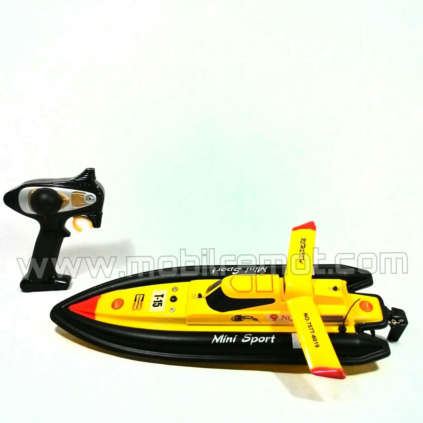 Kapal RC Boat NQD Mini Tracer Upside